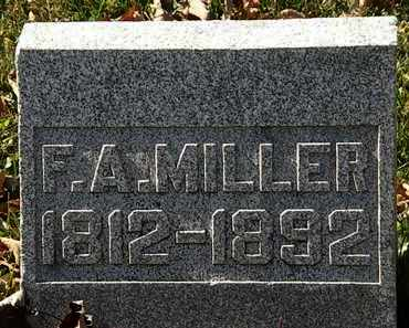 MILLER, F.A. - Morrow County, Ohio | F.A. MILLER - Ohio Gravestone Photos