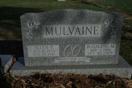 MULVAINE, ROSALENE M - Morrow County, Ohio   ROSALENE M MULVAINE - Ohio Gravestone Photos