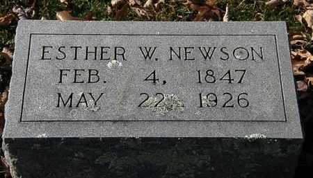 NEWSON, ESTHER W. - Morrow County, Ohio | ESTHER W. NEWSON - Ohio Gravestone Photos