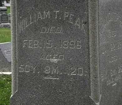 PEAK, WILLIAM T. - Morrow County, Ohio | WILLIAM T. PEAK - Ohio Gravestone Photos