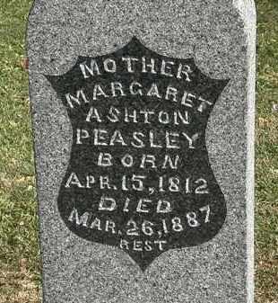 PEASLEY, MARGARET ASHTON - Morrow County, Ohio | MARGARET ASHTON PEASLEY - Ohio Gravestone Photos