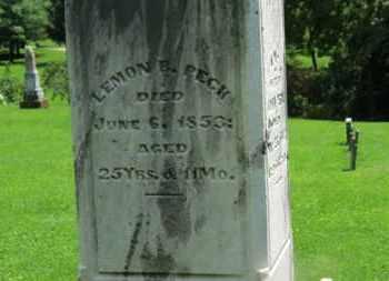 PECK, LEMON B. - Morrow County, Ohio   LEMON B. PECK - Ohio Gravestone Photos