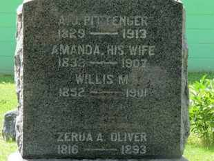 PITTINGER, WILLIS M. - Morrow County, Ohio | WILLIS M. PITTINGER - Ohio Gravestone Photos