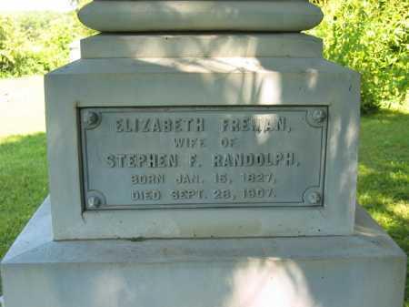 RANDOLPH, ELIZABETH - Morrow County, Ohio | ELIZABETH RANDOLPH - Ohio Gravestone Photos