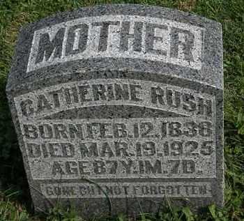 RUSH, CATHERINE - Morrow County, Ohio | CATHERINE RUSH - Ohio Gravestone Photos