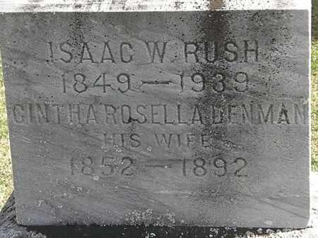 DENMAN RUSH, CINTHA ROSELLA - Morrow County, Ohio | CINTHA ROSELLA DENMAN RUSH - Ohio Gravestone Photos