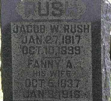 RUSH, FANNY A. - Morrow County, Ohio | FANNY A. RUSH - Ohio Gravestone Photos