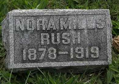 RUSH, NORA - Morrow County, Ohio | NORA RUSH - Ohio Gravestone Photos