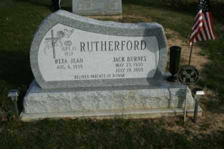 RUTHERFORD, JACK BURNES - Morrow County, Ohio | JACK BURNES RUTHERFORD - Ohio Gravestone Photos