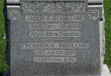 SCHILLING, JACOB F. - Morrow County, Ohio | JACOB F. SCHILLING - Ohio Gravestone Photos
