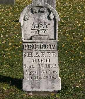 SHARPE, GEORGE W. - Morrow County, Ohio | GEORGE W. SHARPE - Ohio Gravestone Photos