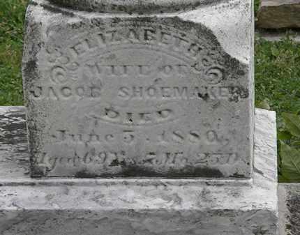 SHOEMAKER, ELIZABETH - Morrow County, Ohio | ELIZABETH SHOEMAKER - Ohio Gravestone Photos