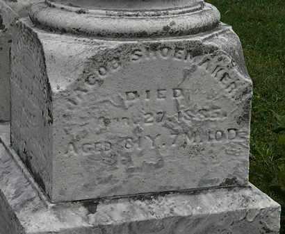 SHOEMAKER, JACOB - Morrow County, Ohio   JACOB SHOEMAKER - Ohio Gravestone Photos