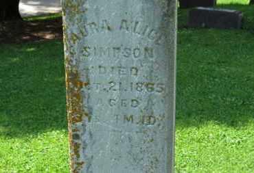 SIMPSON, AURA ALICE - Morrow County, Ohio   AURA ALICE SIMPSON - Ohio Gravestone Photos