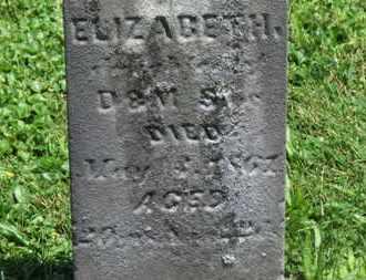 SIPE, ELIZABETH - Morrow County, Ohio   ELIZABETH SIPE - Ohio Gravestone Photos