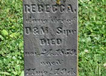 SIPE, REBECCA - Morrow County, Ohio   REBECCA SIPE - Ohio Gravestone Photos