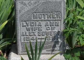 SOWERS, LYDIA ANN - Morrow County, Ohio | LYDIA ANN SOWERS - Ohio Gravestone Photos