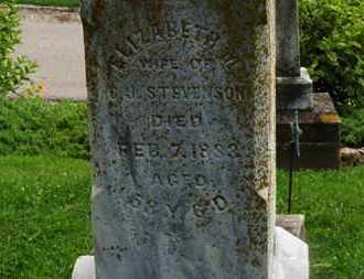 STEVENSON, ELIZABETH - Morrow County, Ohio   ELIZABETH STEVENSON - Ohio Gravestone Photos