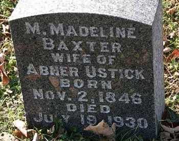 BAXTER USTICK, M. MADELINE - Morrow County, Ohio | M. MADELINE BAXTER USTICK - Ohio Gravestone Photos