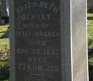 DEWITT WASHER, ELIZABETH - Morrow County, Ohio   ELIZABETH DEWITT WASHER - Ohio Gravestone Photos