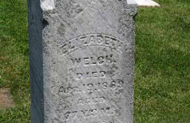 WELCH, ELIZABETH - Morrow County, Ohio   ELIZABETH WELCH - Ohio Gravestone Photos