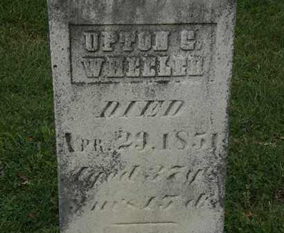 WHEELER, UPTON G. - Morrow County, Ohio   UPTON G. WHEELER - Ohio Gravestone Photos