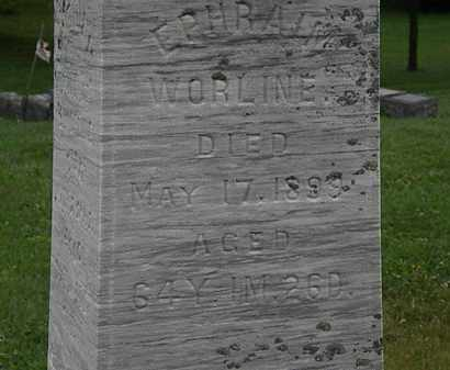 WORLINE, EPHRAIM - Morrow County, Ohio | EPHRAIM WORLINE - Ohio Gravestone Photos