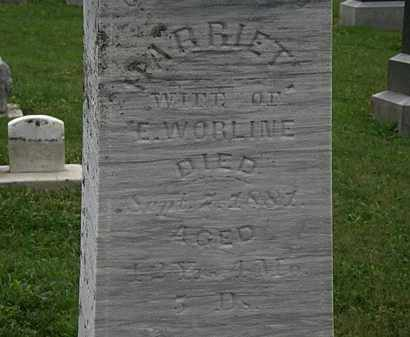 WORLINE, HARRIET - Morrow County, Ohio | HARRIET WORLINE - Ohio Gravestone Photos