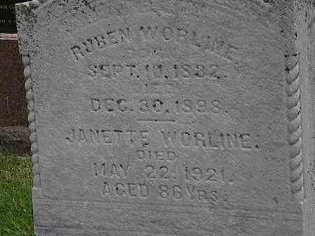 WORLINE, RUBEN - Morrow County, Ohio   RUBEN WORLINE - Ohio Gravestone Photos