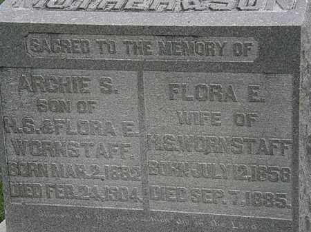 WORNSTAFF, FLORA E. - Morrow County, Ohio   FLORA E. WORNSTAFF - Ohio Gravestone Photos