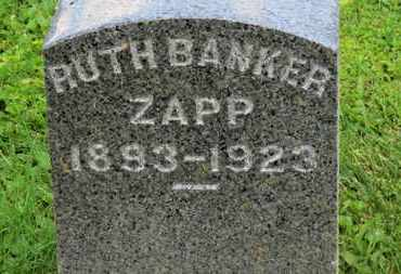 BANKER ZAPP, RUTH - Morrow County, Ohio | RUTH BANKER ZAPP - Ohio Gravestone Photos