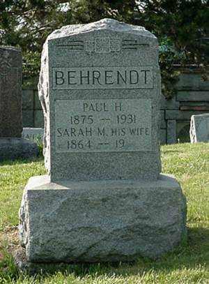 BEHRENDT, SARAH M. - Muskingum County, Ohio   SARAH M. BEHRENDT - Ohio Gravestone Photos