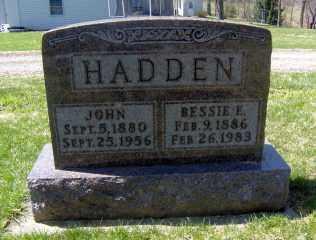 HADDEN, BESSIE E - Muskingum County, Ohio | BESSIE E HADDEN - Ohio Gravestone Photos