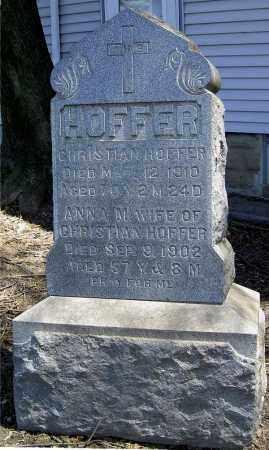 HOFFER, CHRISTIAN - Muskingum County, Ohio | CHRISTIAN HOFFER - Ohio Gravestone Photos