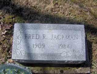 JACKMAN, FRED R - Muskingum County, Ohio | FRED R JACKMAN - Ohio Gravestone Photos