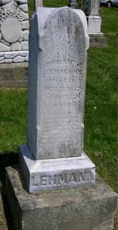 LEMANN, UNKNOWN - Muskingum County, Ohio | UNKNOWN LEMANN - Ohio Gravestone Photos