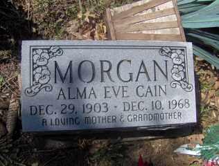 CAIN MORGAN, ALMA EVE - Muskingum County, Ohio   ALMA EVE CAIN MORGAN - Ohio Gravestone Photos