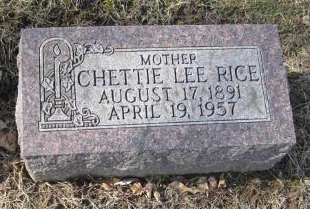 RICE, CHETTIE LEE - Muskingum County, Ohio | CHETTIE LEE RICE - Ohio Gravestone Photos