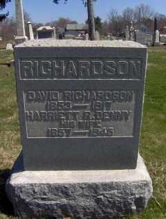 RICHARDSON, DAVID - Muskingum County, Ohio | DAVID RICHARDSON - Ohio Gravestone Photos