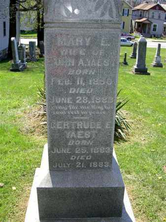 YAEST, MARY E. - Muskingum County, Ohio   MARY E. YAEST - Ohio Gravestone Photos