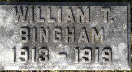 BINGHAM, WILLIAM THOMAS - Pickaway County, Ohio | WILLIAM THOMAS BINGHAM - Ohio Gravestone Photos