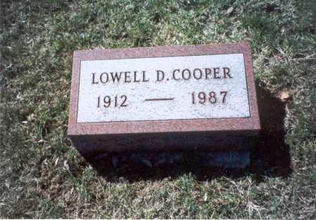 COOPER, LOWELL D. - Pickaway County, Ohio   LOWELL D. COOPER - Ohio Gravestone Photos
