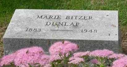 BITZER DUNLAP, MARIE - Pickaway County, Ohio | MARIE BITZER DUNLAP - Ohio Gravestone Photos