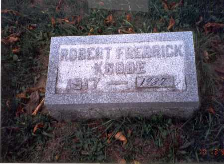 KNODE, ROBERT FREDERICK - Pickaway County, Ohio | ROBERT FREDERICK KNODE - Ohio Gravestone Photos