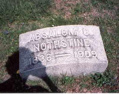 NOTHSTINE, ABSALOM O. - Pickaway County, Ohio | ABSALOM O. NOTHSTINE - Ohio Gravestone Photos