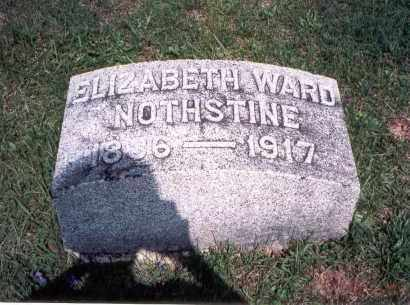 WARD NOTHSTINE, ELIZABETH - Pickaway County, Ohio | ELIZABETH WARD NOTHSTINE - Ohio Gravestone Photos