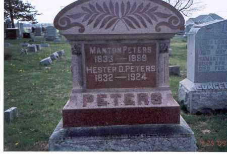 PETERS, HESTER D. - Pickaway County, Ohio | HESTER D. PETERS - Ohio Gravestone Photos