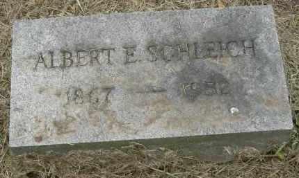 SCHLEICH, ALBERT E - Pickaway County, Ohio | ALBERT E SCHLEICH - Ohio Gravestone Photos