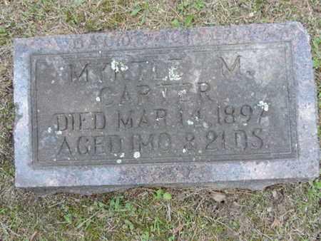 CARTER, MYRTLE M. - Pike County, Ohio | MYRTLE M. CARTER - Ohio Gravestone Photos