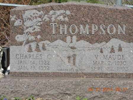 THOMPSON, CHARLES C - Pike County, Ohio | CHARLES C THOMPSON - Ohio Gravestone Photos